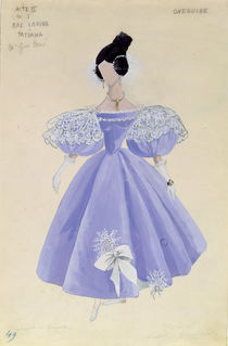Costume design for Tatania in the opera 'Eugene Onegin' by Tchaikovsky von French School