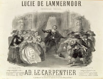 'Lucia de Lammermoor' the opera by Domenico G M Donizetti von French School