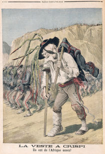 'Crispi's Defeat', caricature from 'le Petit Journal' von Henri Meyer