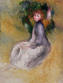 Young Girl Seated, 1885 by Pierre-Auguste Renoir