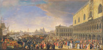 Arrival of the Comte Languet de Gergy at the Palazzo Ducale by Luca Carlevaris