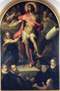 The Resurrection with Portraits of Nicolas Muller and his Family von Bartholomaeus Spranger