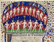 Fol.1 Signs of the zodiac and a group of men von Portuguese School