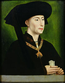 Portrait of Philippe le Bon Duc de Bourgogne by Rogier van der Weyden
