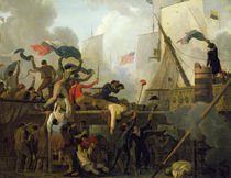 Heroism of the Crew of 'Le Vengeur du Peuple' at the Battle of Ouessant by Nicolas Antoine Taunay