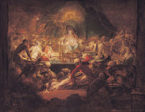 The Monkey Freemasons by Gabriel de Saint-Aubin