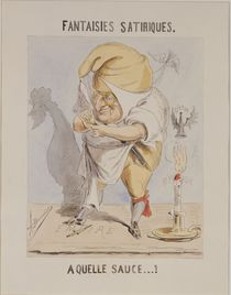 Satirical Fantasies, caricature of Adolphe Thiers von A. Belloguet