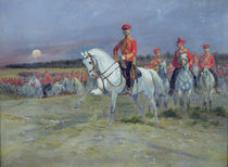 Tsarevich Nicolas Reviewing the Troops von Jean-Baptiste Edouard Detaille