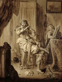 A Gentleman at his Toilet, 1660 von Adriaen Pietersz. van de Venne