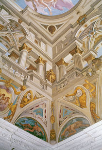 Trompe l'oeil from the ceiling of the Salle des Fetes by Giovanni Battista Carlone