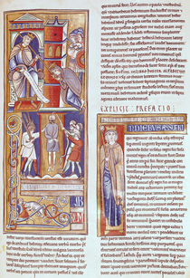 Ms 1 fol.284r Esther and Ahasuerus and the Hanging of Haman by French School