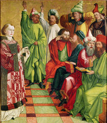 St. Stephen before the Judges by Michael Pacher