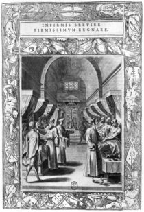 Hospitallers of the Order of St. John of Jerusalem Caring for the Sick von Philippe Thomassin