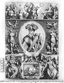 Portrait of Francisco Pizarro with allegorical figures by Gaspar Bouttats