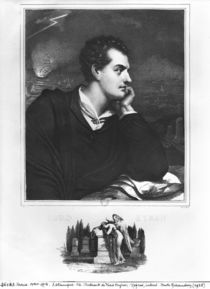 Portrait of Lord Byron by French School