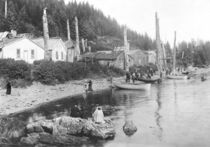 Village in Alaska, c.1900 by American Photographer