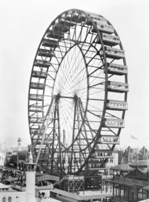 The ferris wheel at the World's Columbian Exposition of 1893 in Chicago by American Photographer