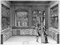 The Shop of Galanteries, illustration from 'Recueil d'ornements' by Jean II Berain