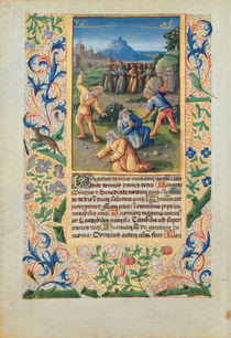 Ms Lat. Q.v.I.126 The Stoning of St. Stephen von Jean Colombe