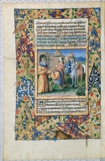 Ms Lat. Q.v.I.126 Scene from the 'Hours of Louis d'Orleans' by Jean Colombe