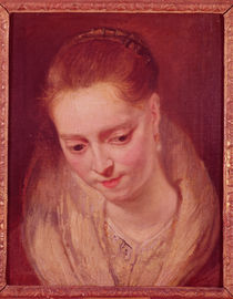 Portrait presumed to be Helene Fourment by Peter Paul Rubens