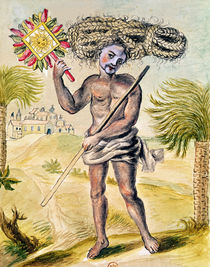 Penitent man in India with plaited hair by French School