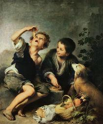 Children Eating a Pie, 1670-75 by Bartolome Esteban Murillo