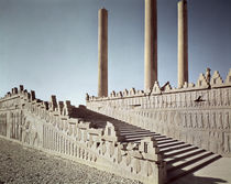 View of the east staircase of the Apadana c.515 BC by Achaemenid