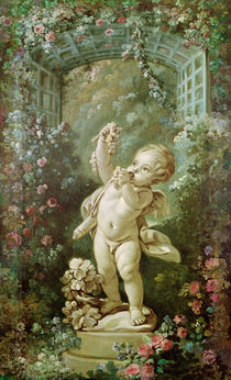 Cupid with Grapes von Francois Boucher