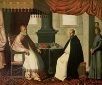 St. Bruno and Pope Urban II 1630-35 by Francisco de Zurbaran