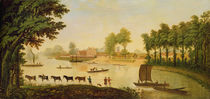 View of the Shepperton on the River Thames by English School