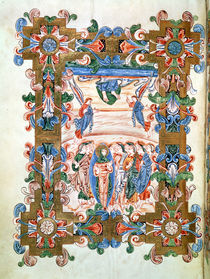 Ms 274 fol.81v The Ascension of Christ by English School