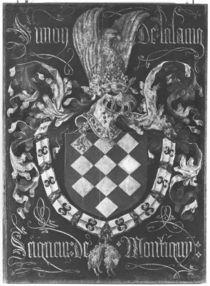 Coat of Arms of Simon de Lalaing Seigneur of Montigny von Flemish School