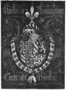 Coat of Arms of Charles de Bourgogne Count of Charolais by Flemish School