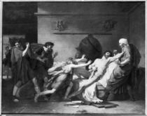 The Death of Cato of Utica 1797 by Baron Pierre-Narcisse Guerin