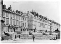 Barricade during the Commune of Paris in Rue de Rivoli by French Photographer