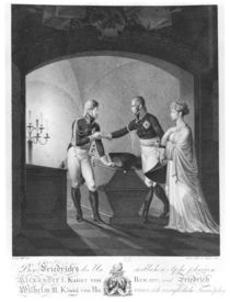 Near the ashes of Friederick II the Great of Prussia by Ulrich Ludwig Wolf