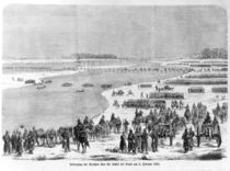 War of Duchies, the Prussian army crossing the Shlei at Arnis by German School