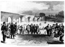 Jules Favre arriving at Pont de Sevres by German School