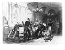 War council at Versailles Prefecture on 6th December 1870 by German School