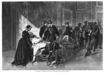 King Wilhelm I visiting the hospital at Chateau de Versailles by German School