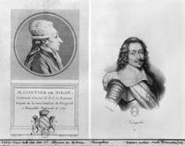 Portrait of Marie Francois Gontier de Biran known as Maine de Biran by Francois Godefroy