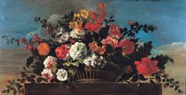 Wicker Basket of Flowers von Jean-Baptiste Belin de Fontenay