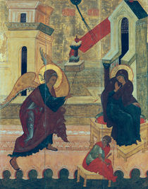 Icon depicting the Annunciation von Russian School