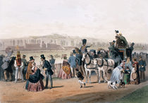 Racecourse at the Bois de Boulogne by Eugene Charles Francois Guerard