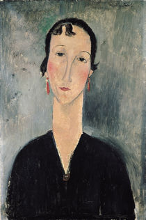 Woman with Earrings by Amedeo Modigliani
