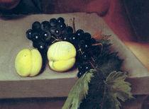 The Sick Bacchus, detail of peaches and grapes by Michelangelo Merisi da Caravaggio