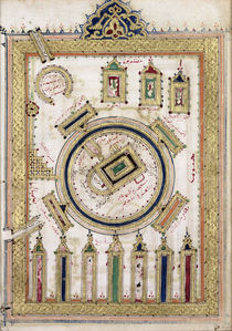 The Great Mosque of Mecca, from 'Dala'il al-Khayrat' by Islamic School