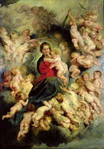 The Virgin and Child surrounded by the Holy Innocents or von Peter Paul Rubens