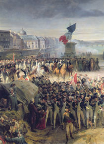 The Garde Nationale de Paris Leaves to Join the Army in September 1792 by Leon Cogniet